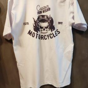 Motorcycle calavera blanca
